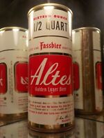 16 OZ ALTES LAGER DRAFT DETRIOT MICH STRAIGHT STEEL  OLD BEER CAN 138-10