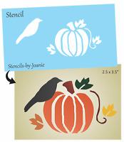 Stencil happy harvest fall leaves autumn primitive sign ebay for Fall pumpkin stencils