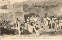 CARTE POSTALE AFRIQUE MAROC EL AIOUN SIDI MELLOUK CONSTRUCTION D'UN PONT