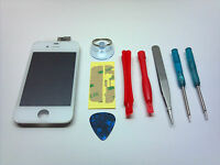 WHITE OEM iPHONE 4 4G LCD GLASS DIGITIZER TOUCH SCREEN ASSEMBLY GSM AT&T w/TOOLS