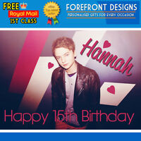 Personalised Conor Maynard Birthday Greeting Card A5