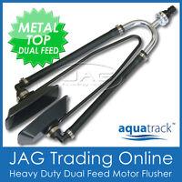 HEAVY DUTY METAL DUAL FEED OUTBOARD BOAT MOTOR WATER FLUSHER / ENGINE EAR MUFFS