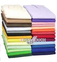 Poly Cotton Fitted Valance Sheet Plain Dyed Bed Sheets Single - Double - King