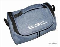 Dreamy Blue Washed Denim Travel Bag Case for Binatone S500 Sat Nav Sat Nav GPS