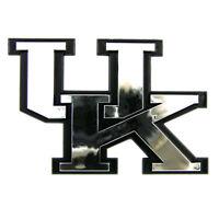 Kentucky Wildcats NCAA Chrome 3D Auto Plastic Car Emblem Decal College Logo Team