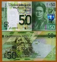 SPECIMEN, Scotland, Clydesdale Bank, 50 pounds,  2009, P-229L UNC   Rare