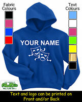 DRAMA THEATRE PERSONALISED HOODIE / HOODIES - GREAT GIFT FOR A CHILD & NAMED TOO