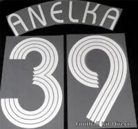 Chelsea Anelka 39 Uefa Champions League 06/08 Football Shirt Name Set Home