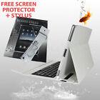iPad 2 / 3 / 4 ABS Bluetooth Keyboard Case White