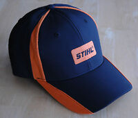Stihl Orange Mesh and Black Fabric Hat / Cap with Embroidered Patch Logo