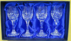 Bohemia Hand Cut 24% Lead Crystal Liqueur Glasses x 4 in Presentation Box -1504