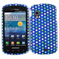 Polka Dots On Blue Phone Case For Samsung Stratosphere i405 Faceplate Cover Skin