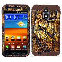 For Samsung Galaxy S II S2 D710 Sprint Hybrid Case Mossy Ducks Camo Brown Cover