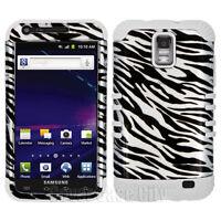 Hybrid White Case SIlver Zebra Cover for Samsung Galaxy S2 S 2 i727 SkyRocket