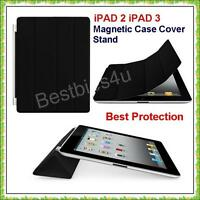 ULTRA THIN BLACK MAGNETIC SMART CASE COVER STAND APPLE iPad 2 IPAD 3