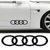 Audi rings, decals, stickers, graphics x 2