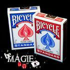 Lot de 2 jeux de cartes BICYCLE STANDARD - Dos Rouge et Bleu