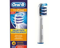 NEW ORAL-B BRAUN REPLACEMENT TRIZONE TOOTHBRUSH HEADS INDIVIDUALLY SEALED
