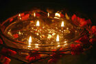 Aromaglow 50 Long Burning Heart Wedding Floating Candles Table Centrepiece