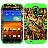 For Samsung Galaxy S II S2 D710 Sprint Hybrid Case Ducks Camo Green Impact Cover