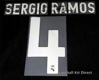 Real Madrid Sergio Ramos 4 2009-10 Football Shirt Name Set Away Player size
