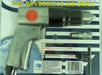 "3/8"" Air Drill Pneumatic Reversible Auto Mechanics New in Package  With Warranty"
