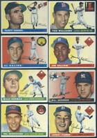 1955 Topps Complete Baseball Set Koufax Clemente Good to VGEX