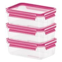 Emsa Clip&Close 2.0 Food Storage Container/Dispenser, 0.55L, Set of 3, Lunchbox