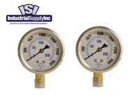"2-Pk 0-3000 psi 2.5"" Hydraulic-Air-Water Pressure Gauge Liquid Filled"