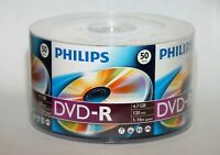 100 PHILIPS Logo Top 16X DVD-R DVDR Recordable Blank Disc Media 4.7GB