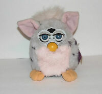 1998 FURBY WITH TAGS TIGER ELECTRONICS 1ST GENERATION GREY & PINK MODEL 70-800