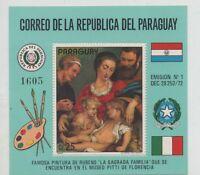 Paraguay stamp S/S MNH Michel bl 200 Sc c 354  painting ART