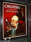 Tabella pannello legno Whisky pubblicità bar pub