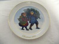 1981 Avon Christmas Collector Plate Christmas Memories-1st Sharing Christmas Spt