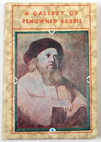 Rare Old Picture Book- Paintings of Great Jewish Rabbi's Israel Scholars Judaica