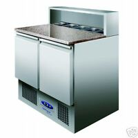 TEFCOLD PT920 STAINLESS STEEL PIZZA PREPERATION FRIDGE COUNTER + FREE DELIVERY