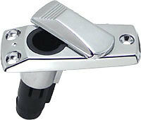 BOAT STERN LIGHT BASE- CHROME PLATED- FITS 2 PRONG STERN LIGHTS