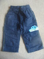 BNWT NEXT Navy Blue Lined Car Boarder Trousers 12-18 Months