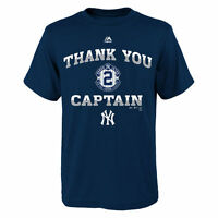 Majestic Derek Jeter New York Yankees Youth Navy Thank You Captain T-Shirt