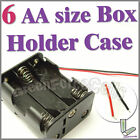 1 pc 6 AA (2X3) Cell Battery (9V) Clip Storage Case Box Holder with Wire Leads