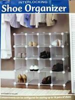 Interlocking 16 Pairs Shoe Cube Organizer/Rack Shelf Storage