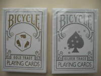 Lot 2 New Rare TRACE Decks 1 GOLD, 1 SILVER Bicycle Playing Cards
