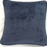 A 18 Inch Cushion Cover In Laura Ashley Villandry Midnight Velvet Fabric