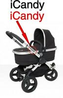 2x iCandy Replacement Chassi Stickers black or colour