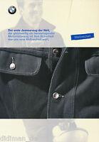 BMW Jeansanzug Prospekt 6/97 brochure Motorrad Broschüre 1997 Deutschland Krad
