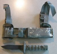 NEW Ontario 1410 ASEK Camo Aircrew Survival Egress Knife FG/UC with Strap Cutter