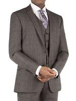 Suit Direct Ben Sherman Grey Tonal Check Kings Fit Suit Jacket 0041485