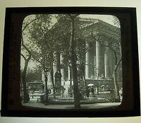 MAGIC LANTERN SLIDE KEYSTONE B&W 1900s 44-7293 THE MADELEINE PARIS FRANCE Vtg