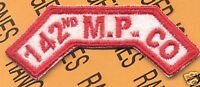 "8th Army - KOREA  ""142nd M.P. CO""  tab patch"