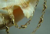 18 Karat Armband 750-er Gelbgold Kinderschmuck Gold Mond  Neu 18 cm